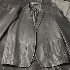 Diesel black waxed jacket